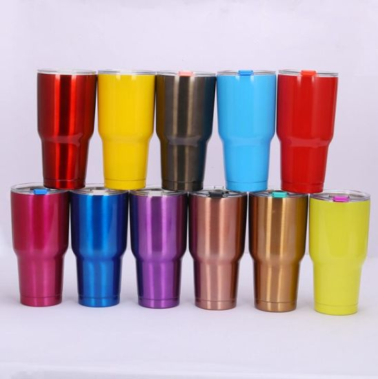 Stainless Steel Tumbler 30oz - Vacuum Insulated Tumbler Coffee Cup Double Wall Large Travel Mug