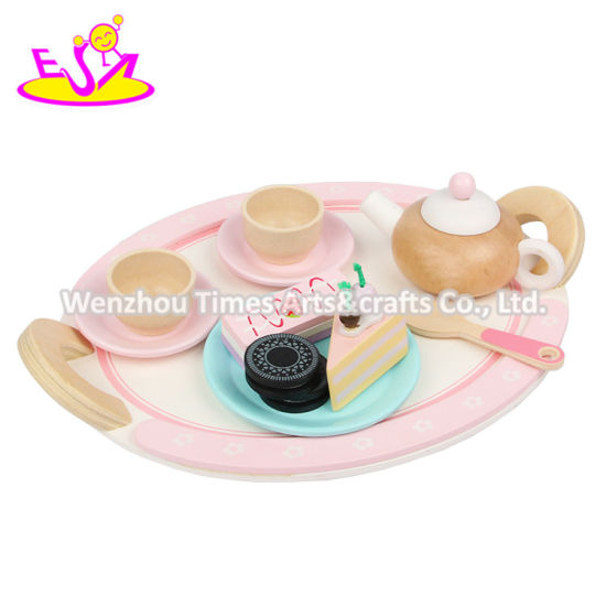 2020 New Released Pink Wooden Pretend Food Set for Children W10b334 pictures & photos