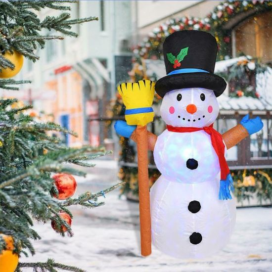 4FT Coolmade Christmas Inflatable Snowman with LED Light for Indoor Outdoor Yard Garden Decorations