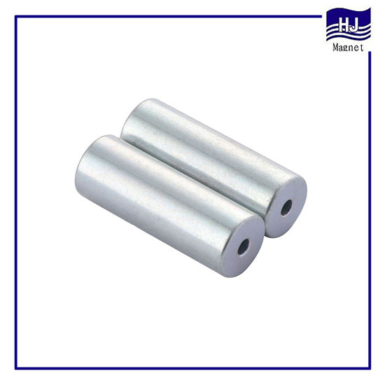 Sintered Permanent Neodymium NdFeB Cylindrical Magnet with Hole Shapes