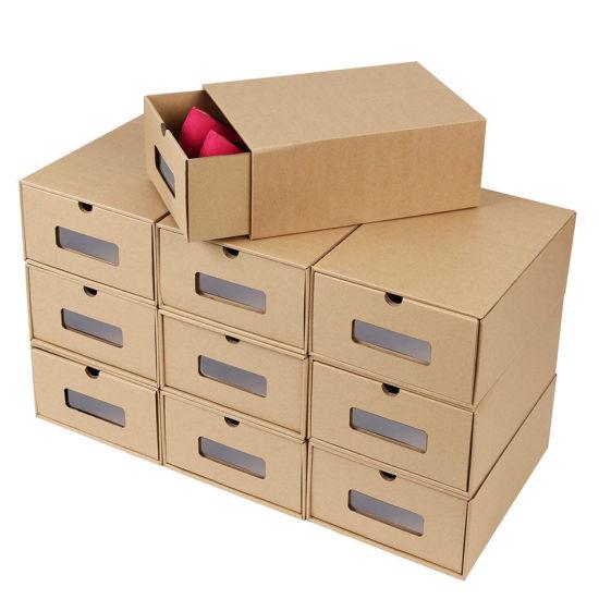 Custom Size Printing Cheap Shoe Storage Packaging Paper Box
