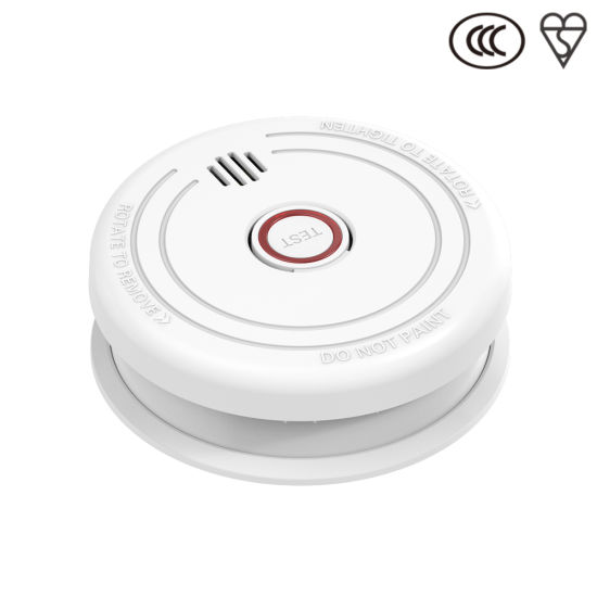 Jbe White Battery Operated Fire Alarm
