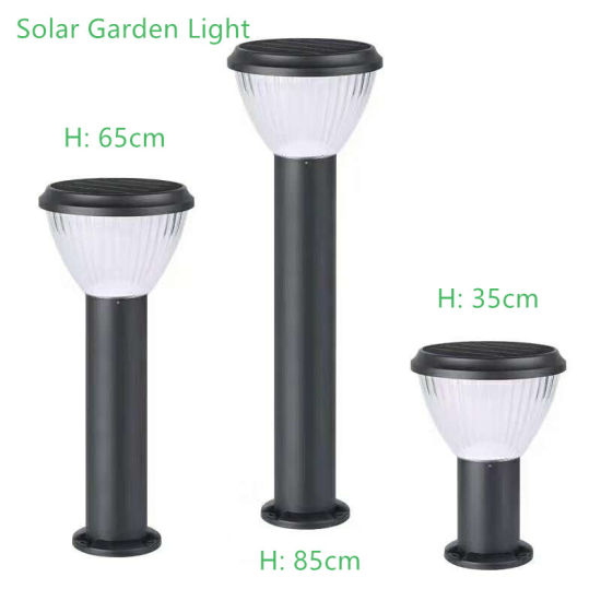 High Lumen LED Outdoor Solar LED Garden Bollard Light for Border Driveway Pathway Walkway Lighting