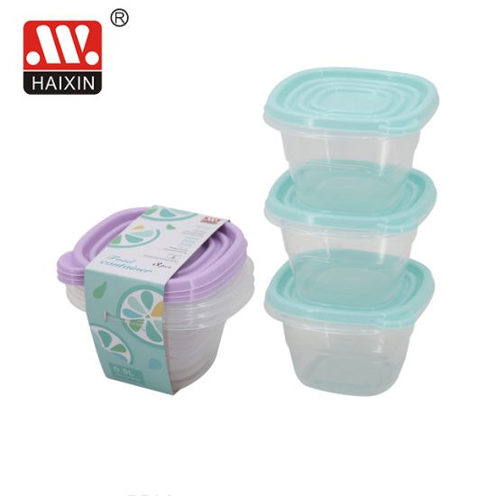 Haixing Plastic PP Food Storage Packing Container with Lid