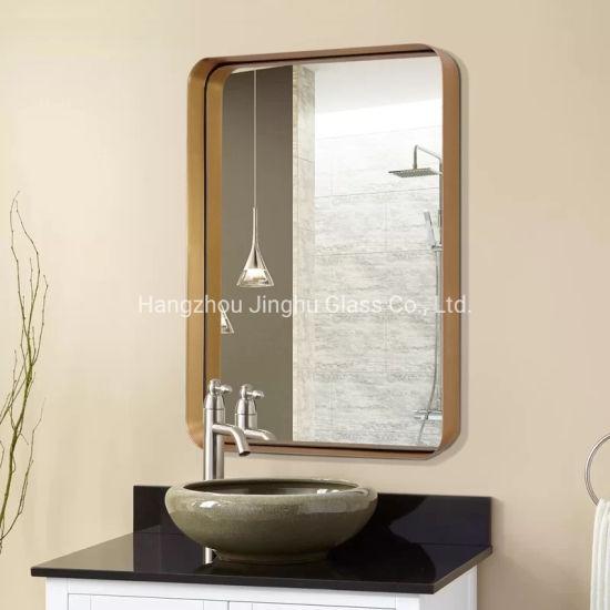 Home Decoration Wall Mounted Black Metal Framed Bathroom Mirror Bath Mirror China Furniture Bathroom Mirror Wall Decorative Mirror Made In China Com