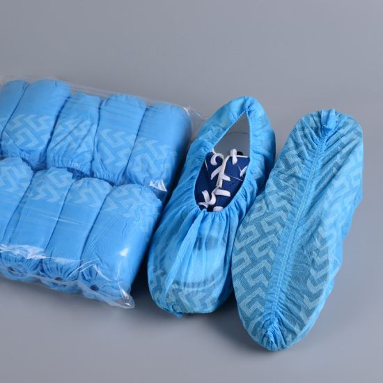 Nonskid Shoe Cover, Anti Slip Shoe Cover, Half Coated PP Nonwoven Shoe Cover Machine Made