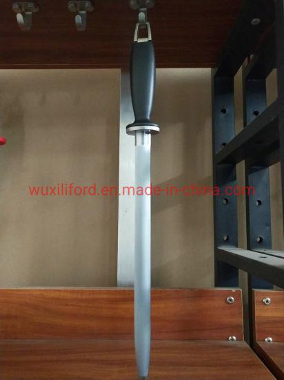 12 Inch Carbon Steel Professional Diamond Knife Sharpener Rod