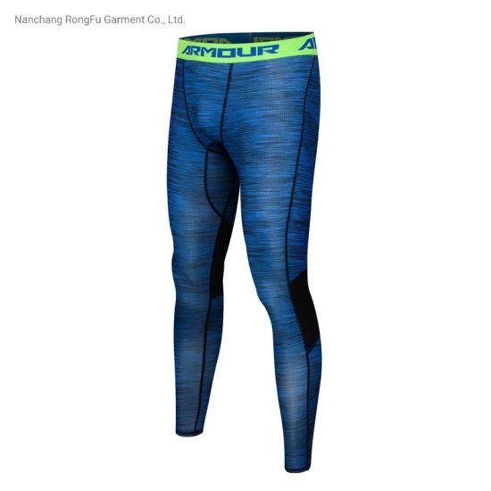Customized Men's Permeable Sports Wear Basketball Training Leggings Running Pants