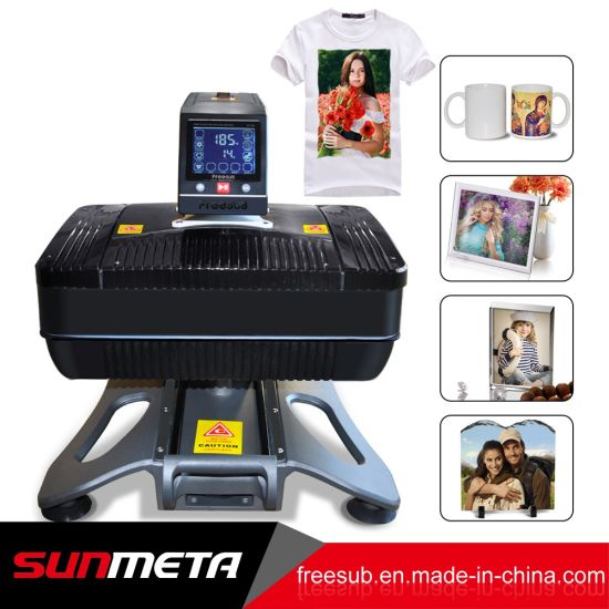Pneumatic 3D Vacuum Sublimation Mug T-Shirt Heat Press Transfer Printing Machine with Ce