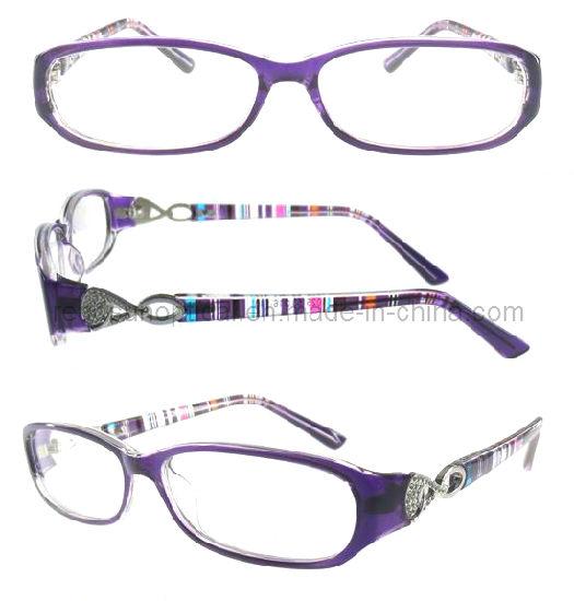 UV Protection Eyewear Frame, Beautiful Pattern Temple Frame (OCP310084)