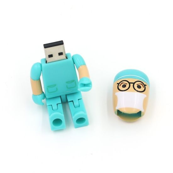 Funny Folding Doctor USB 2.0 Memory Stick Flash Pen Drive 8GB 16GB 32GB 64GB (TF-0070) pictures & photos