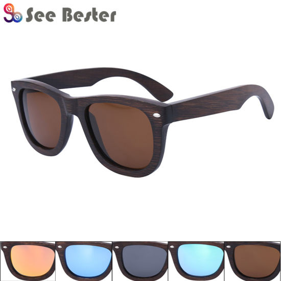 802d0a10dd China Top Sell Polarized Bamboo Wood Sunglasses - China Wood ...