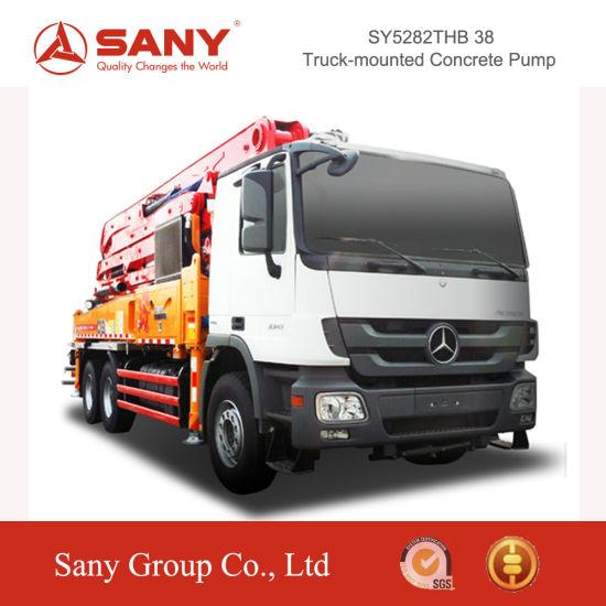 Sany 38m Concrete Pump Truck of Small Diesel Concrete Pump