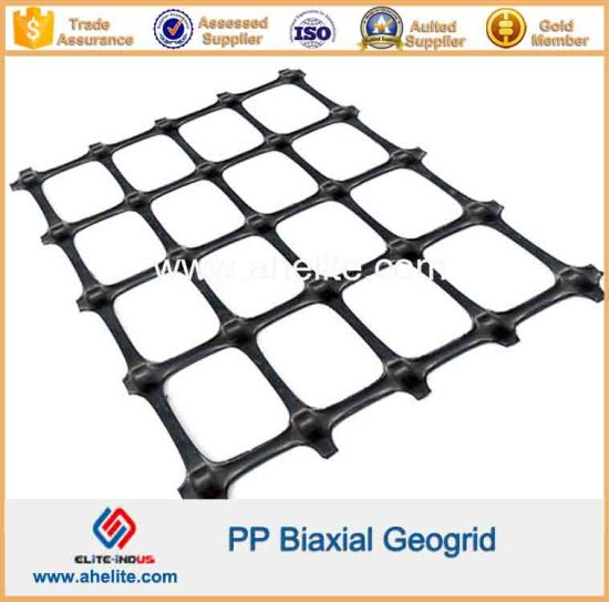 Plastic PP Biaxial Geogrids 30X30kn/M pictures & photos