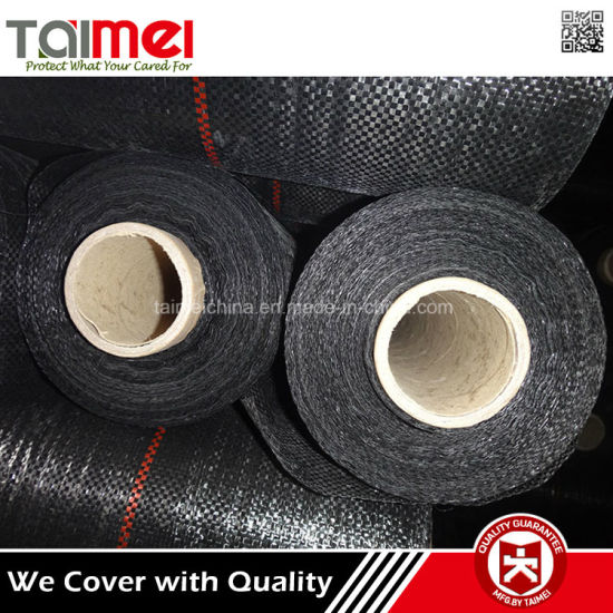Black PP Woven Weed Barrier Prevention Fabric Cloth pictures & photos