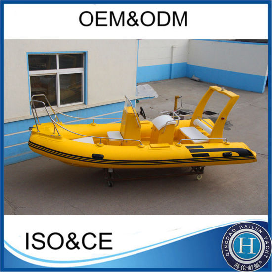 Super Quality Hypalon Material Fiberglass Boat Rigid Inflatable Boat Rib520