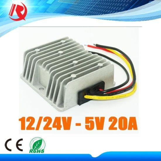 China DC 12V 24V to 5V 20A 100W Car LED Display Power Supply Buck