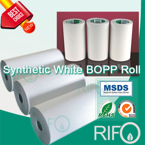 Eco Friendly Sensitive Thermal BOPP Synthesis Paper with FDA Certified pictures & photos