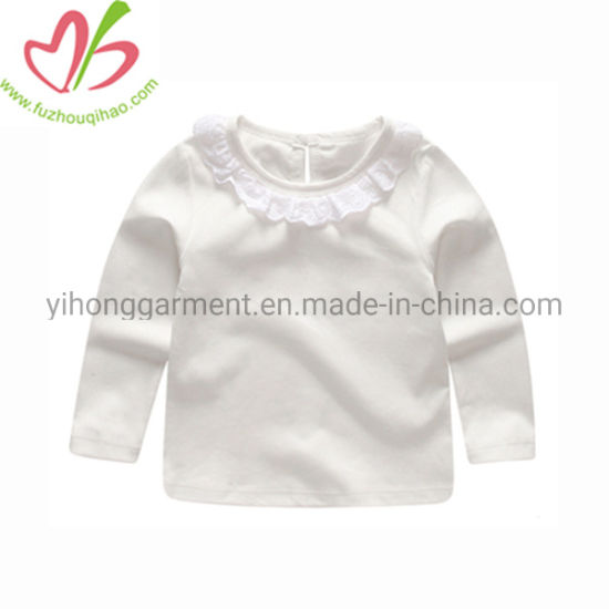 ac0331bbe19f99 China 100% Cotton Wholesale Boutique White Ruffle Top for Girls ...