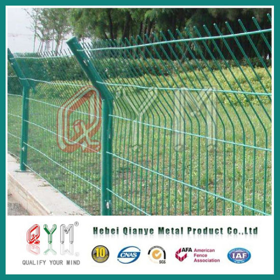 China Double Wire Garden Fence EdgingMetal 3D Double Loop Wire
