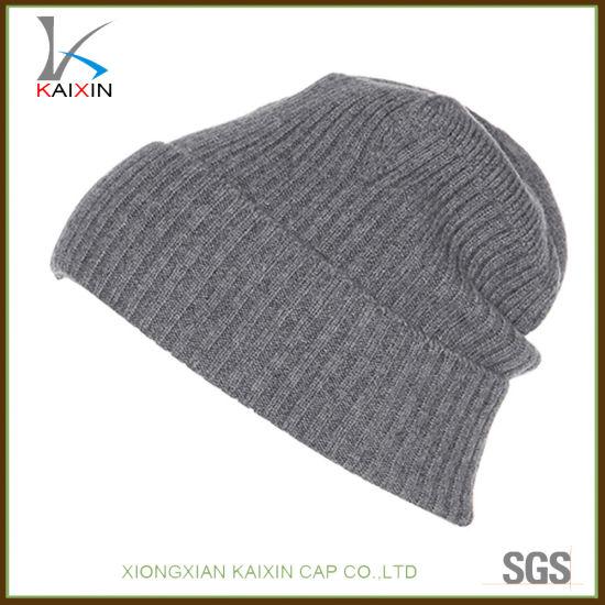 e03df06baf9 China Custom Plain Wool Beanies Thick Knitted Hat - China Beanie ...