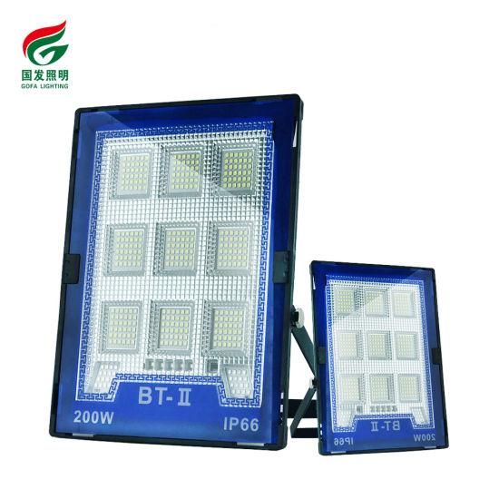 Outdoor IP66 Safety Waterproof LED Flood Light Control Smart Light Control Solar Panel 100W 200W 300W 400W LED Solar Flood Light