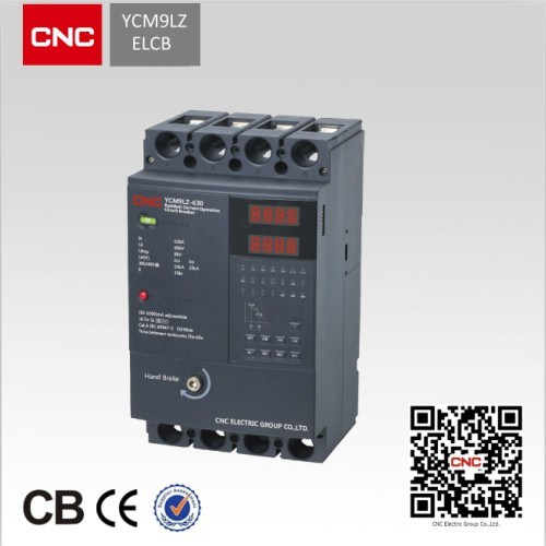 New Type MCCB Ycm9lz Earth Leakage Circuit Breaker