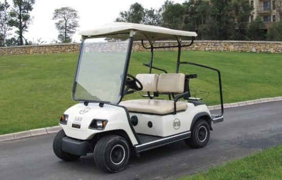 White 2 Seat Electric Golf Car (LT-A2)