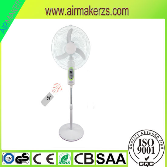 "18"" Solar Rechareable AC/DC Stand Fan with 7.5 Hour Timer"