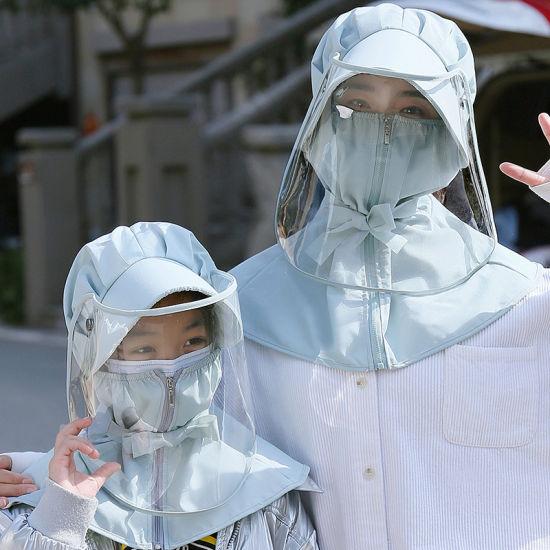 Anti-Droplet Virus Mask Anti-Epidemic Sunscreen Sunshade Summer Children Removable Protective Hat