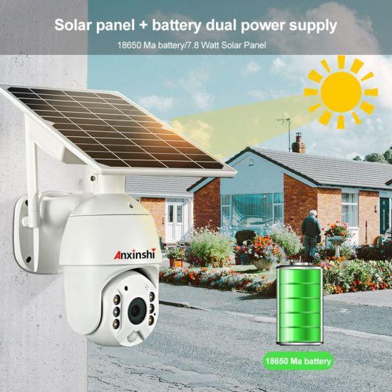 Solar Camera 1080P High Resolution Full Color PIR Detection Solar Panel Battery WiFi PTZ Security Camera