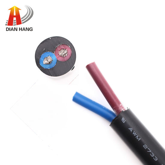 UL Certification 2733 14AWG American Standard 2 Core Power Cord Cable Electronic Copper Tinned Wire Cable PVC Copper Cable