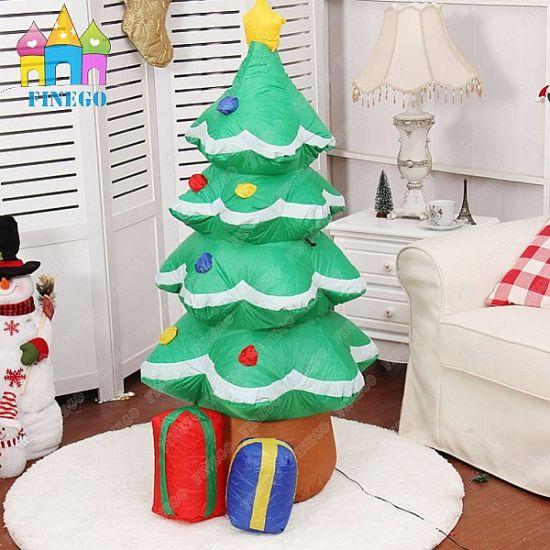 china event led light giant inflatable christmas santa tree