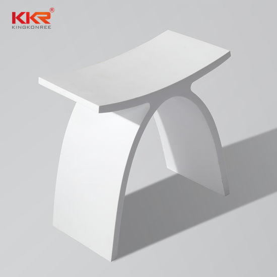 Superb White Solid Surface Vanity Stool Bench For Bedroom Bathroom Shower Seat Andrewgaddart Wooden Chair Designs For Living Room Andrewgaddartcom