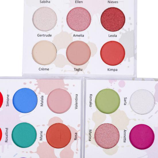 Cosmetic Makeup OEM Private Label High Pigment 9 Colors Custom Eyeshadow Palette