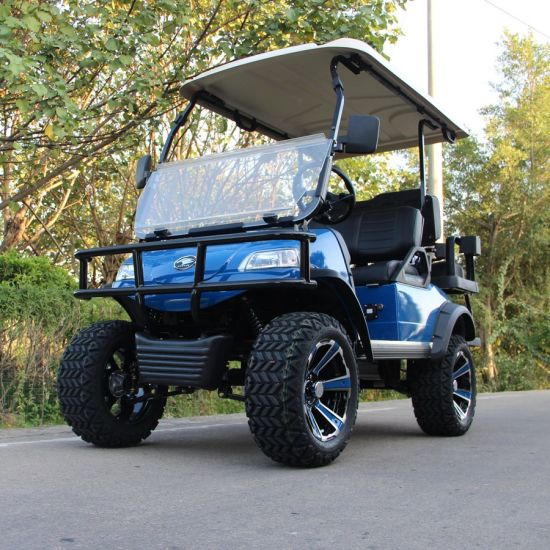 Electric Buggy Golf Cart Hunting Car (DEL2022D2Z, blue) Plus