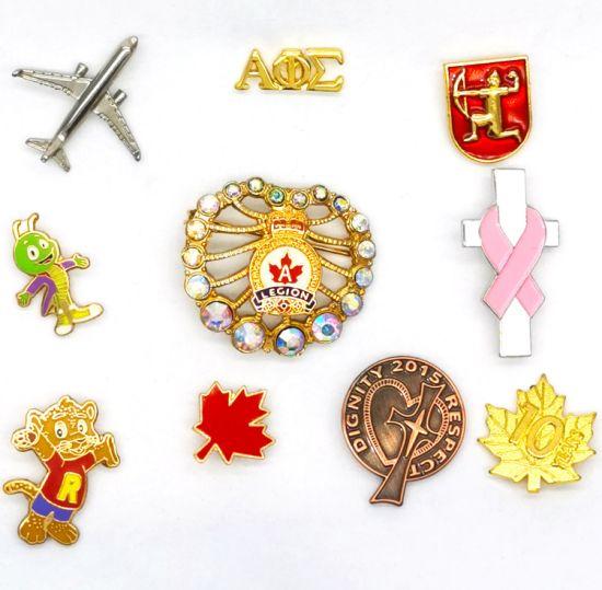 BSCI Factory Made Custom Metal Enamel Badge Lapel Pin Gold Emblem for Gift/Promotion/Souvinir