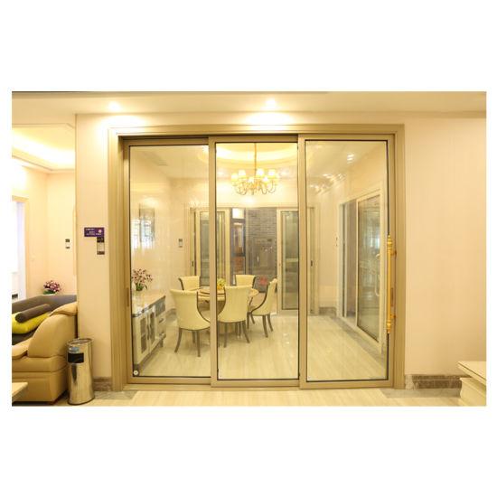 Modern Building Material New House Design Interior Sliding Doors Lowes Glass Aluminum Doors
