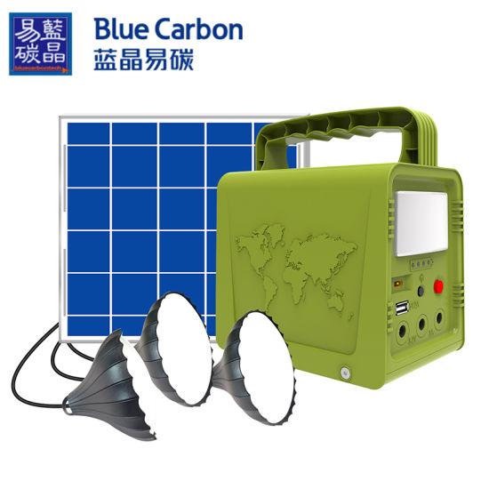 Mini Solar Home System Emergency Power with 5V/18W Solar Panel