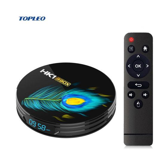 Quad-Core HK1 Rbox R3 Topleo Proformuler TV Box for Big TV Screen 2.4G 5g Remote Voice Android 11 TV Box 2021