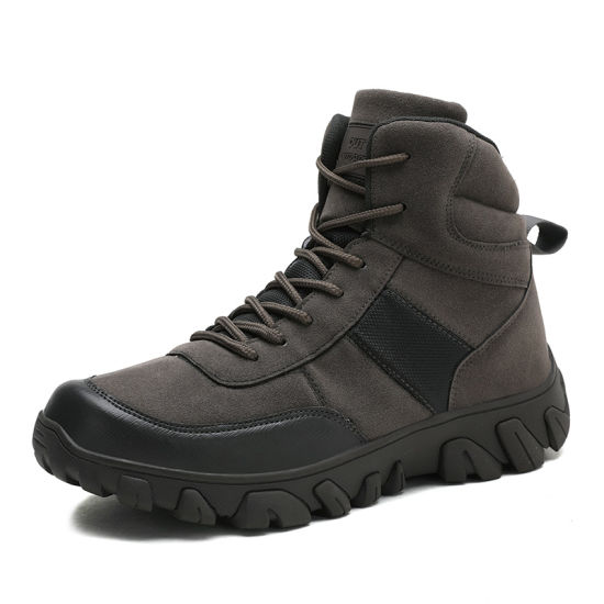 Men Tactical Boots Combat Military Outdoor Hiking Work Safety Ankle Boots with Zipper