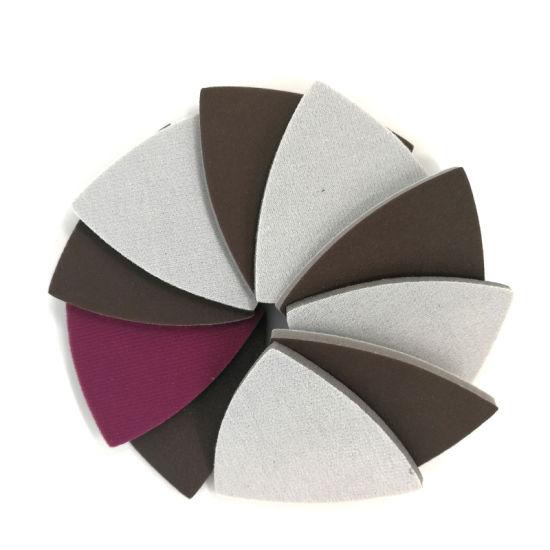 80X80X80mm Hook and Loop 300-2000 Grit Ceramic Sponge Sanding Disc Sandpaper for Polishing and Grinding