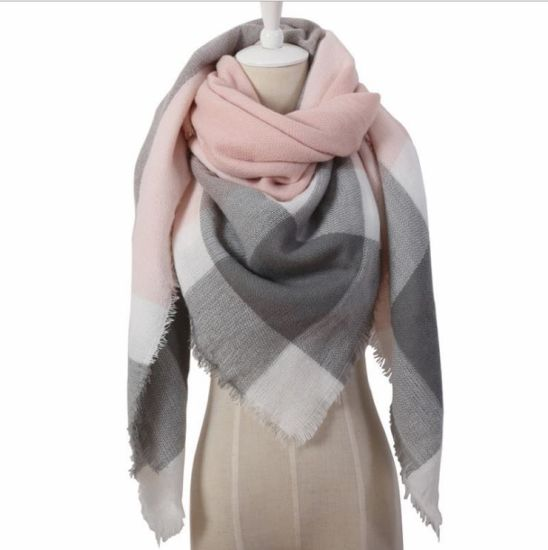 Triangle Scarf Autumn Winter New Style Cashmere Like Scarf Female Pashmina Shawl