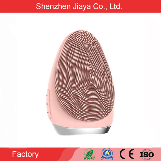 Amazon Hot Sell Electric Face Washing Cleaning Ipx7 Waterproof Silicone Facial Clean Brush