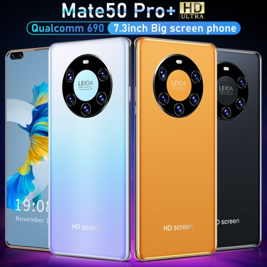 Mate50 PRO+ 4GB+64GB Smartphone OEM Cell Phone 7.3 Inch OLED Qual Comm690 10 Core 5600mAh Mobile Phone