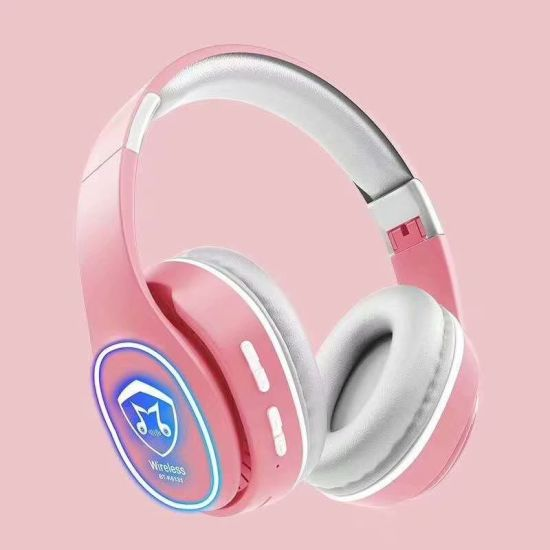 Pink Glowing Wireless Gaming Headset