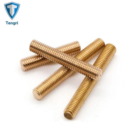 Brass H59 Full Thread Screw Rod M4 Brass Threaded Rod Building Rod Stud Bolt