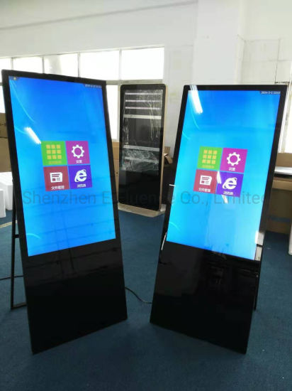 32′-75′ Indoor Floor Standing Horizontal/Vertical Totem Kiosk Digital WiFi Video Sign TFT LCD Monitor LED Media Player Screen Display pictures & photos