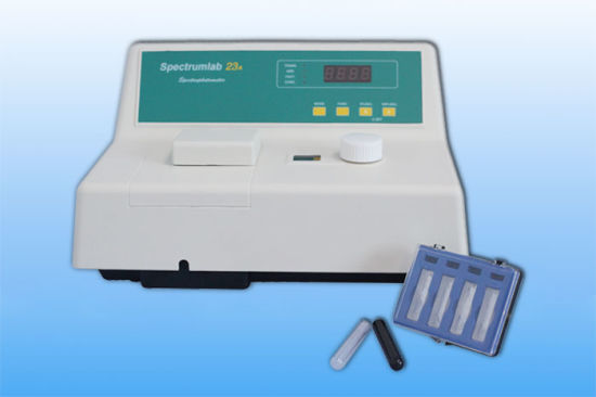 Professional Supply Lab Equipment Single Beam Vis Visible Spectrophotometer with High Quality Good Price pictures & photos