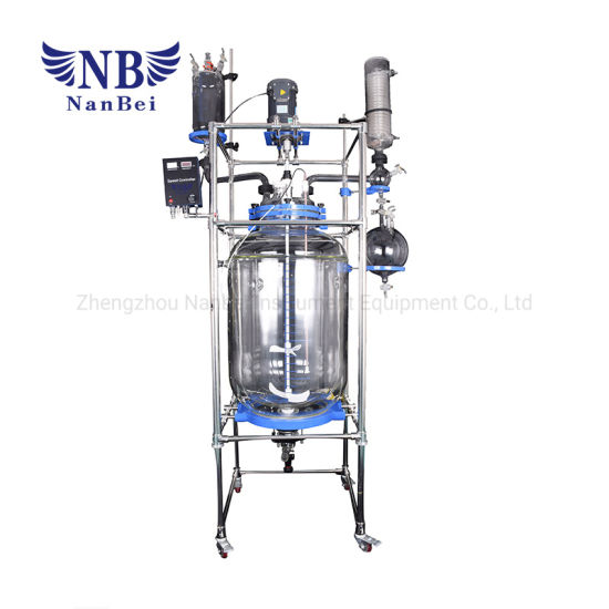 200L China Chemical Lab Jacketed Glass Reactor with Ce pictures & photos